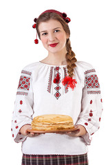 Russian girl with crepes