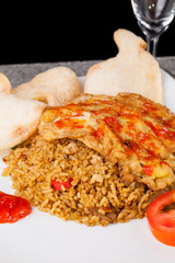 Spicy Fried Rice Nasi Goreng Indonesia Traditional Food