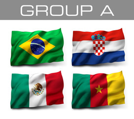 Brazil 2014 teams - Group A