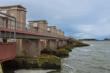 Delta Works Sluice at Afsluitdijk, Storm Flood Protection