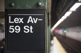 New York City subway sign, Lexington Avenue