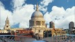 London - St Paul Cathedral, UK, time lapse