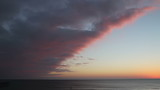 Sunset over the ocean time lapse Daytona Beach Florida