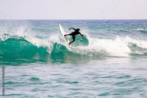 Fotobehang Water Motorsp. Surfing in Mirissa, Sri Lanka.