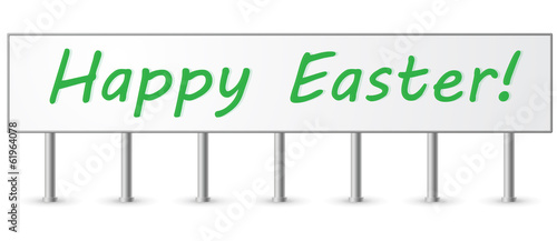 Green Happy Easter Signpost