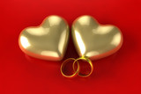 Gold heart rings