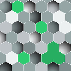 Background made of colorful hexagons