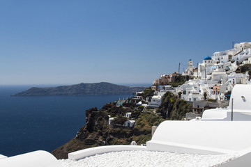 Scene of Oia Village at Santorini