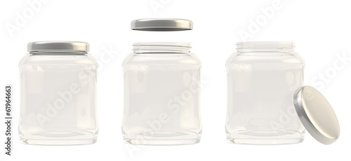 Glass jar with a metal cap cover