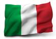 Leinwanddruck Bild - flag of Italy