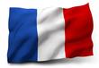 Leinwanddruck Bild - flag of France