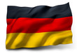 canvas print picture - flag of Germany
