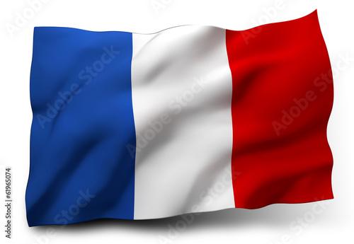 Leinwanddruck Bild flag of France