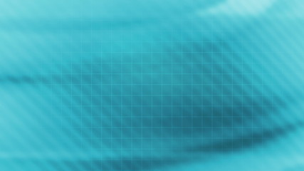 Soft Flowing Blue Looping abstract background with wire frame