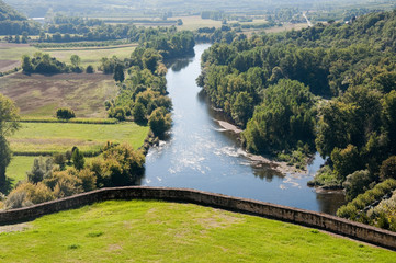 Dordogne river from the town of Beynac-et-Cazenac, France