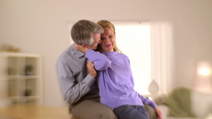 Senior couple going through marital problems