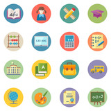 Flat Education Icons Set 1 - Dot Series