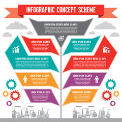 Infographic Concept for Presentation - Business Vector Scheme