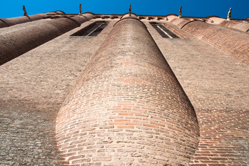 Wall of the Albi Cathedral, France
