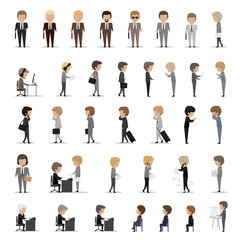 Business Peoples Set - Isolated On White Background