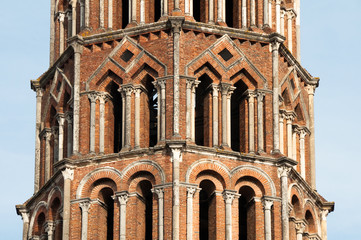 Belfry of the church of Saint Sernin, Toulouse, France