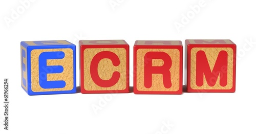 ECRM - Colored Childrens Alphabet Blocks.