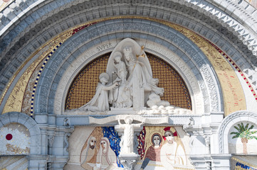 Porch of the sanctuary of Our Lady of Lourdes (France)