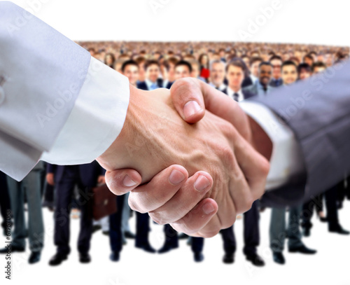 handshake and business team