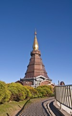 Pagoda on the top of mountain Inthanon, Chiang Mai, Thailand