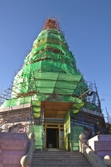 Restoration of Pagoda on the top mountain Inthanon, Thailand