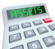 Assets Word Calculator Adding Financial Investments Money Wealth