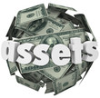 Assets Word Money Sphere Ball Value Net Worth Wealth