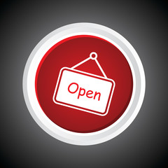 Icon of Open On Button. Eps-10.