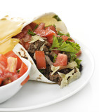 Burrito With Beef And Vegetables