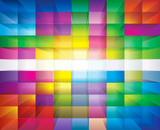 Abstract colorful transparency mosaic background.
