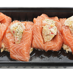 Raw Stuffed Salmon