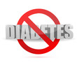 no diabetes sign illustration design
