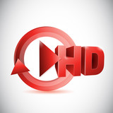hd play button cycle illustration design