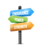endurance, power, strength sign illustration