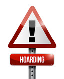 hoarding warning sign illustration