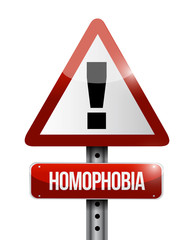 homophobia warning sign illustration design