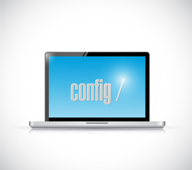 configure code on a laptop. illustration design