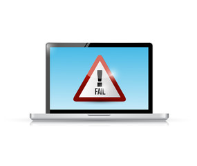 fail sign on a laptop. illustration design