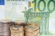 100 Euroschein und Euromünzen