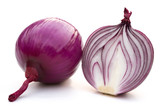 red onion on white with clipping path