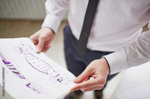 Holding sketch