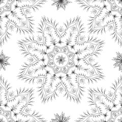 Seamless floral abstract design