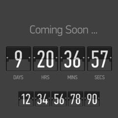 Flip Coming Soon, countdown timer template