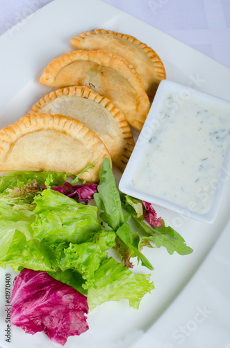 small pies with meat