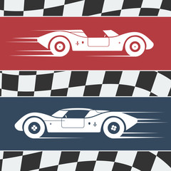 Two race cars